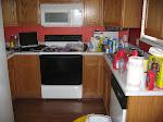 My kitchen slash office slash before Susan rocked it