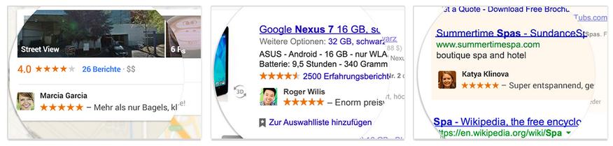 Google + soziale Empfehlungen