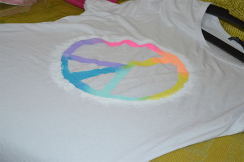 Camiseta com estampa Peace