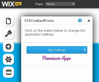 123ContactForm App for Wix