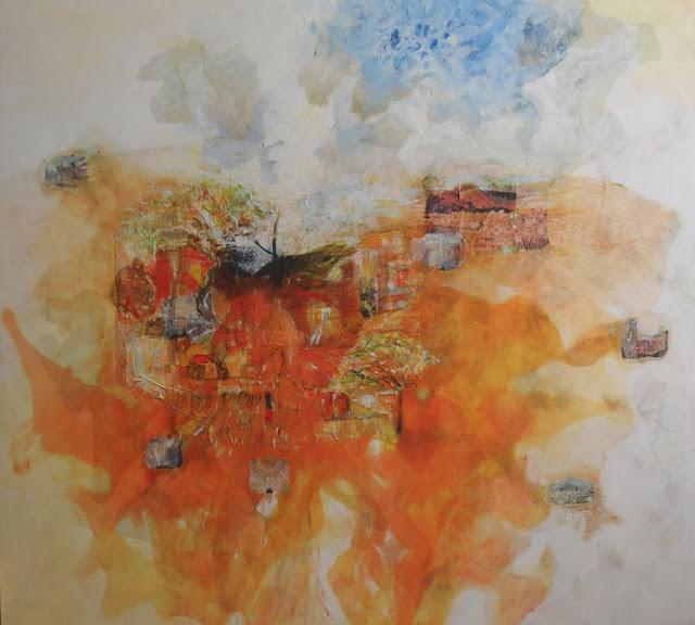 Materialización con relato de viaje,pintura de Alejandro Martínez Corredor