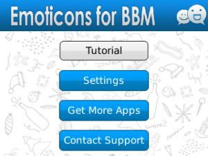 Emoticons for BBM v1.1 BlackBerry App