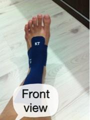 front legs, KT tape