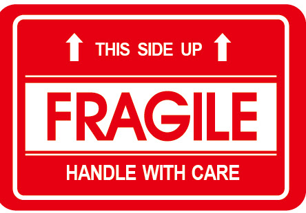 1500 2x3 This Side UP Fragile Stickers Self Adhesive ...