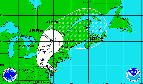 Hurricane Sandy Monday evening