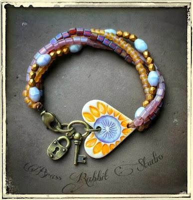 Love on Fire Bracelet by Brass Rabbit Studio