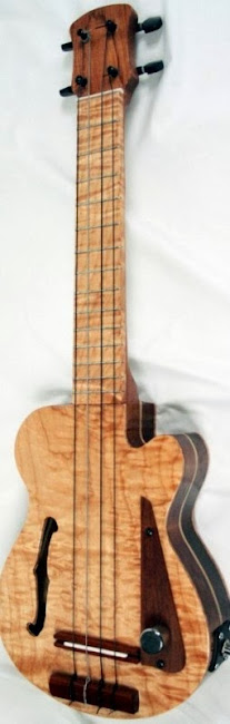 Unklele hand made guitar shaped Ukuleles at Lardy's Ukulele Database