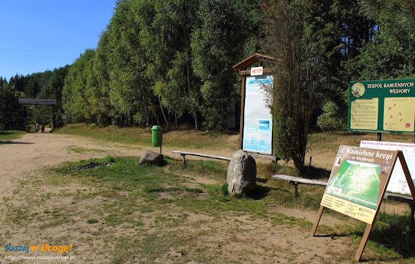 Kamienne Kręgi Gotów w Węsiorach - wejście do rezerwatu