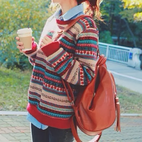 Adorable sweater, shirt, hand bag and pants for fall and winter