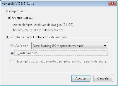 Descarga de ficheros ISO de Oracle LInux 6.4