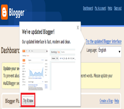 Plus One Count in Blogger Dashboard