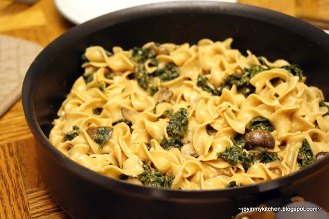 Finding Joy in My Kitchen: Mushroom & Kale Stroganoff
