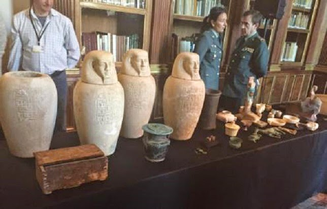 Southern Europe: Europol seizes hundreds of smuggled Egyptian artefacts