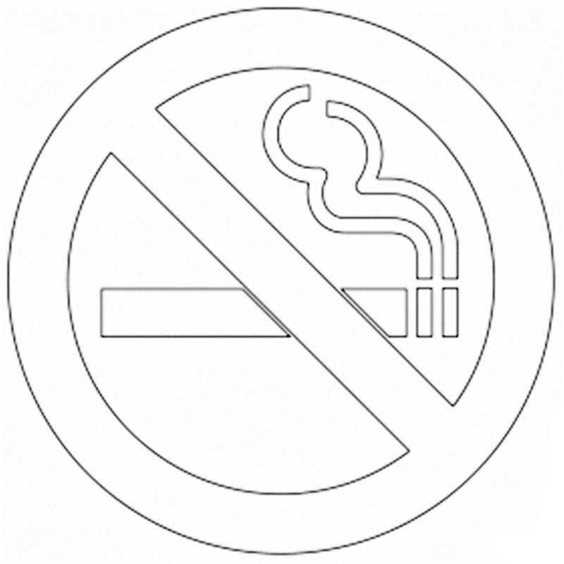 Día mundial contra el cigarro para colorear, símbolo de no fumar para pintar e imprimir