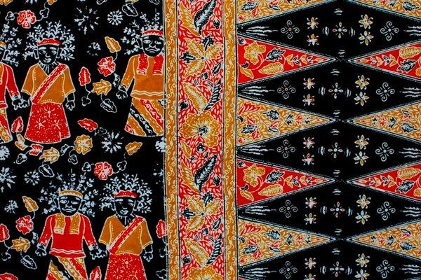 Batik Betawi Ondel-ondel Pucuk Rebung
