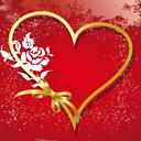 Liefdes teksten over je hart