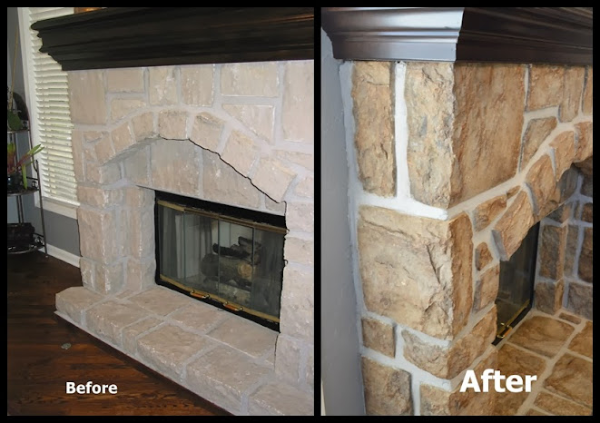 Refinish on fireplace