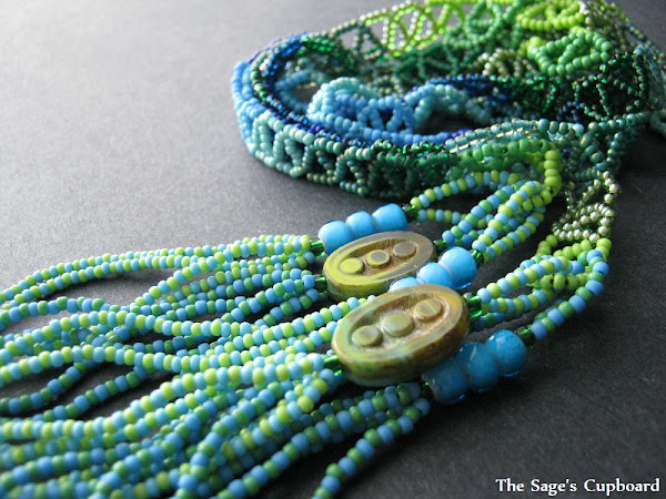 Blue Green Ombre Lariat