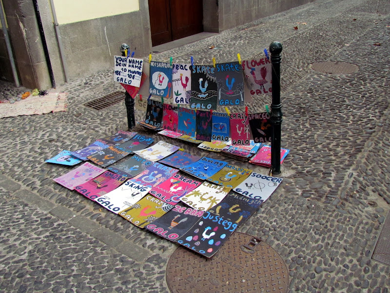 art to sell - Santa Maria street in old town