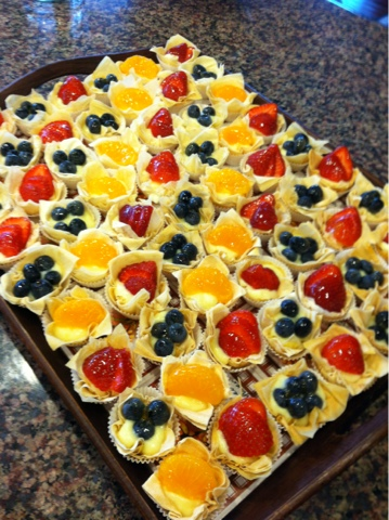 ... & other Good Stuff: Mini Fruit Tarts with Phyllo (Filo) Dough Cups