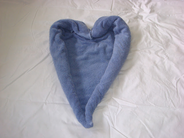 Towel Origami Heart