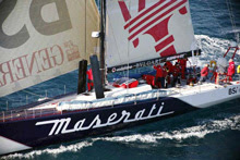 Volvo 70 Maserati sailing with Johnstone cousin- Brad Van Liew