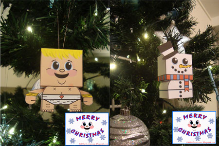 2011 Christmas Papercraft - Angel Snowman Tree Ornament