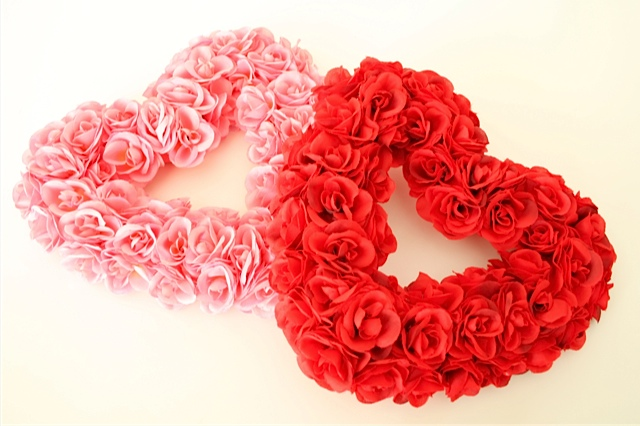 Heart-shaped Wreaths by sarahlundphotography.com