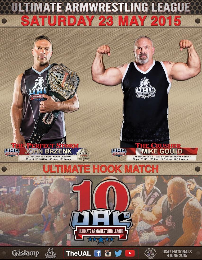 John Brzenk vs. Mike Gould, UAL 10 - GASLAMP LONG BEACH CA, 23 May 2015 │ Image Source: theual.com
