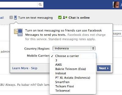 FB SMS