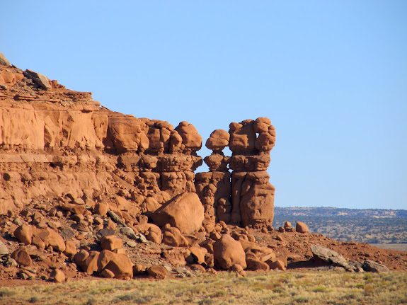 Entrada Sandstone formations at the south end of Red Knoll