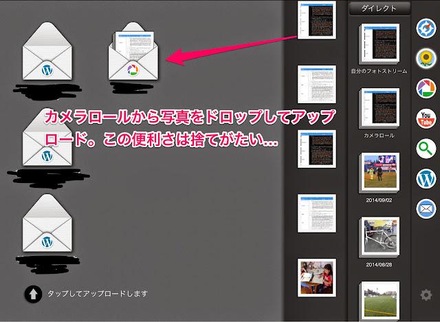 blogsy画像のアップロード画面