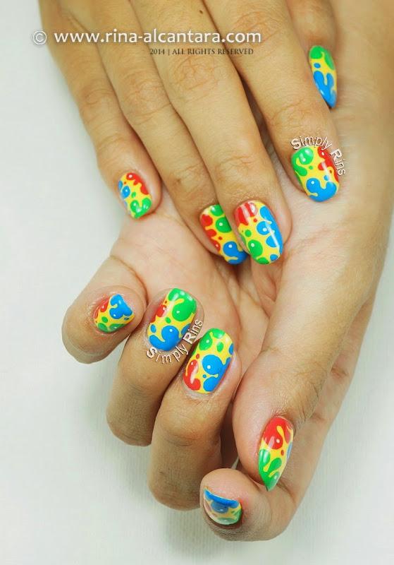 Nail Art: Splash of Colors