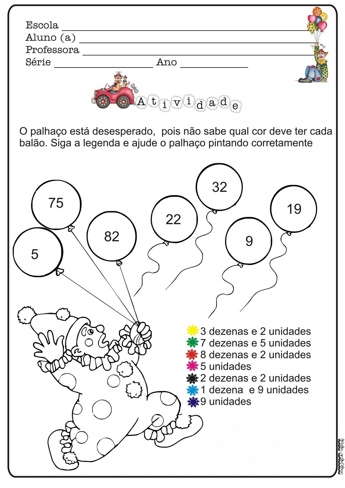 Atividade De Matematica Multiplicacao Projeto Circo Atividade Projeto