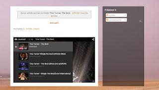 Le lecteur sous le gadget Blog.