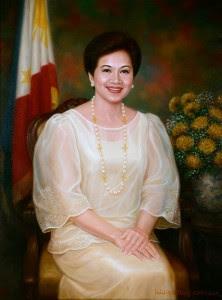Corazon Aquino painting