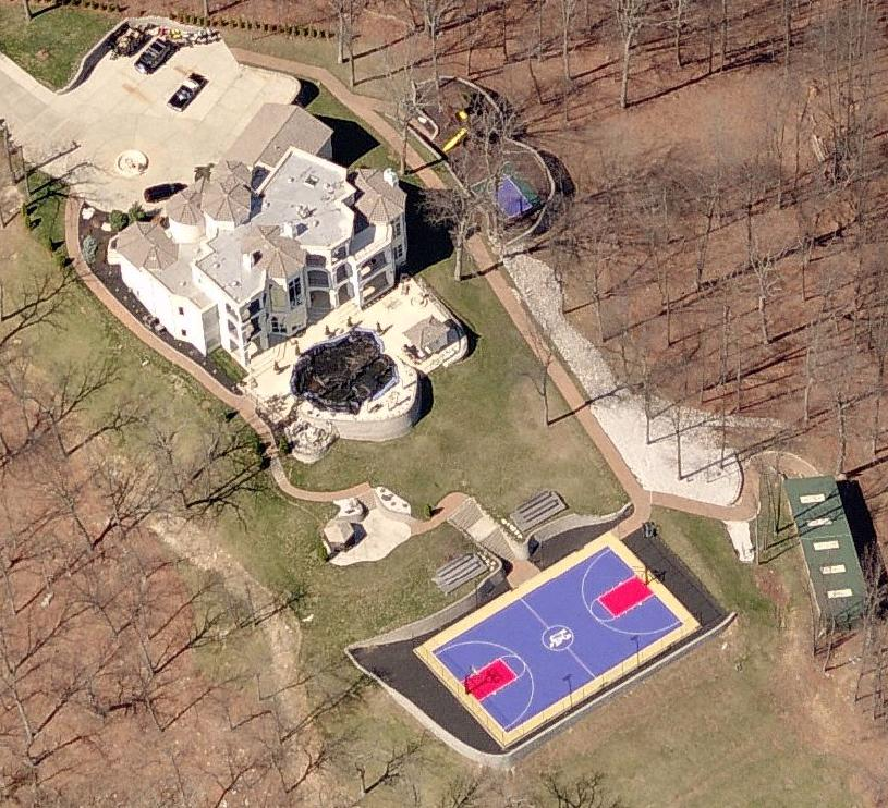 Rapper Nelly's House in St. Louis, Missouri. Nelly's home