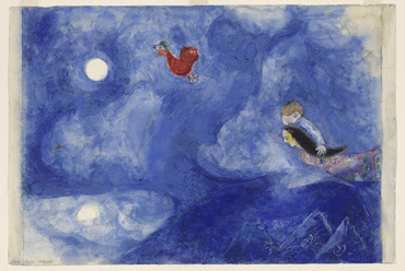 Aleko i Zemphira a la llum de la lluna - M. Chagall
