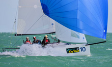 J/70 one-design- sailing off Key West at Race Week