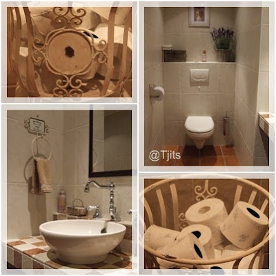 Thuis bij tjits stapel op mijn toilet for Decoratie wc