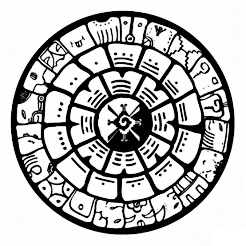 Images of Mayan calendar coloring pages