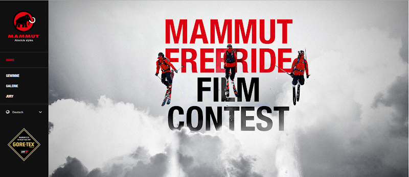 MAMMUT Freeride Film Contest [Screenshot: mammut.ch]