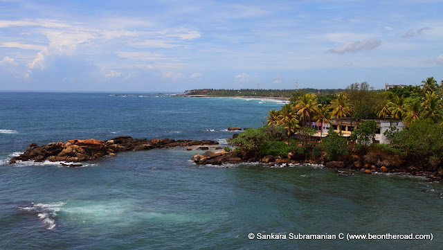 Spectacular Galle coastline as seen from the Galle Fort