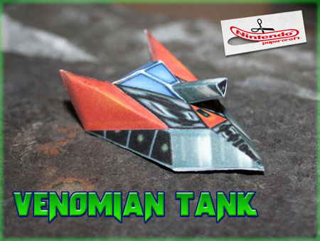 Star Fox 64 Venomian Tank Papercraft