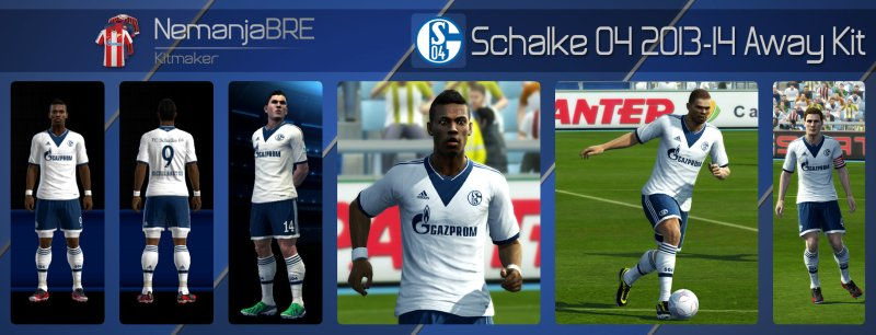 Schalke 04 2013-14 Kit Away - PES 2013