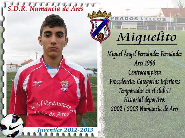 MIGUELITO, centrocampista xuvenil do Numancia de Ares.