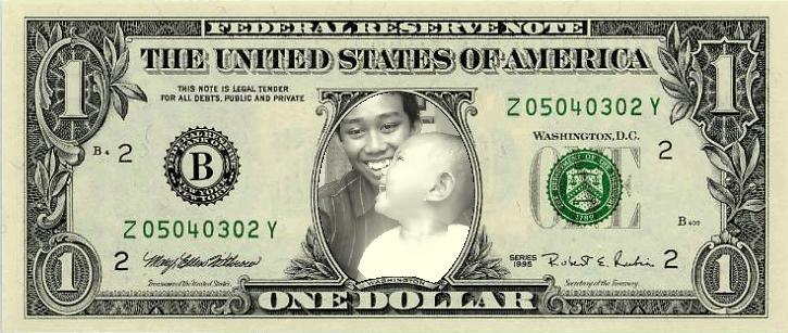 Foto dalam Uang satu Dollar