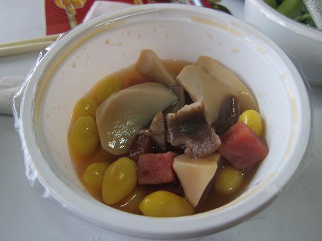 杏菇火腿燒百果