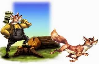 La zorra y el leñador fabula infantil