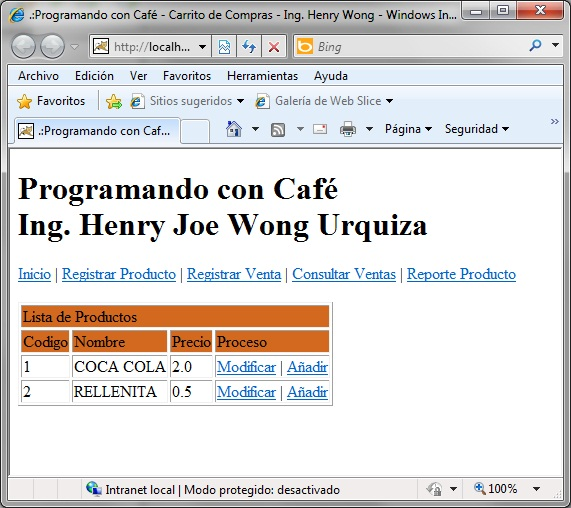 Java aplicaci n web carrito de compras parte iv - Central de compras web ...